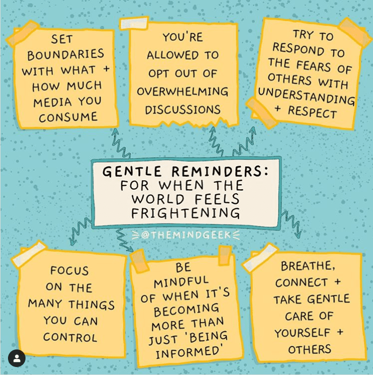 Gentle reminders for when the world feels frightening.